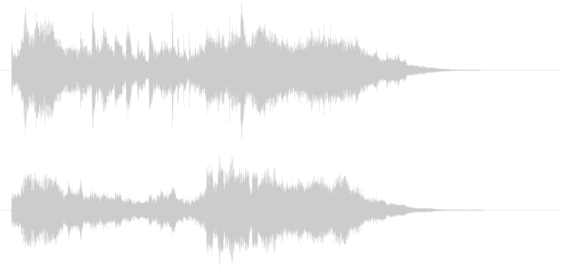 先進的で幻想的なクリスタルサウンドロゴの未再生の波形