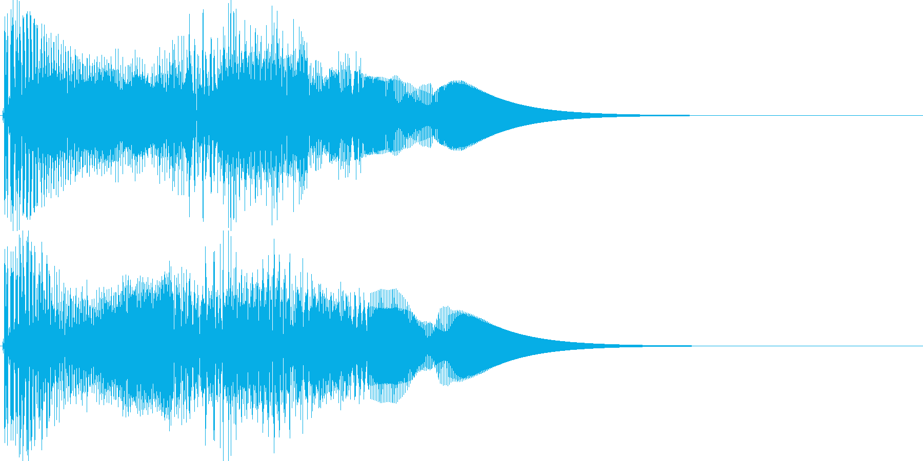 ゲーム系カーソル選択音02 (進む)の再生済みの波形