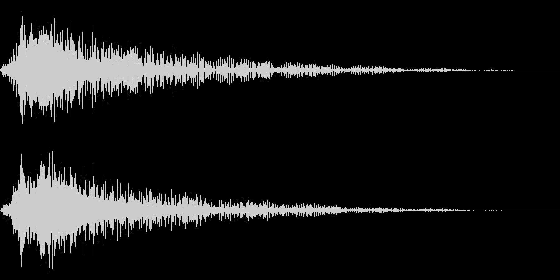 ホラー系アタック音75の未再生の波形