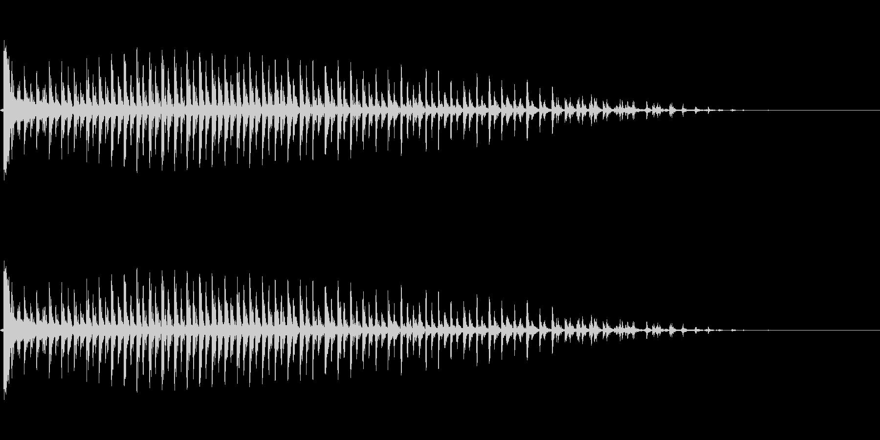 ビブラスラップ(カーッ!)の未再生の波形