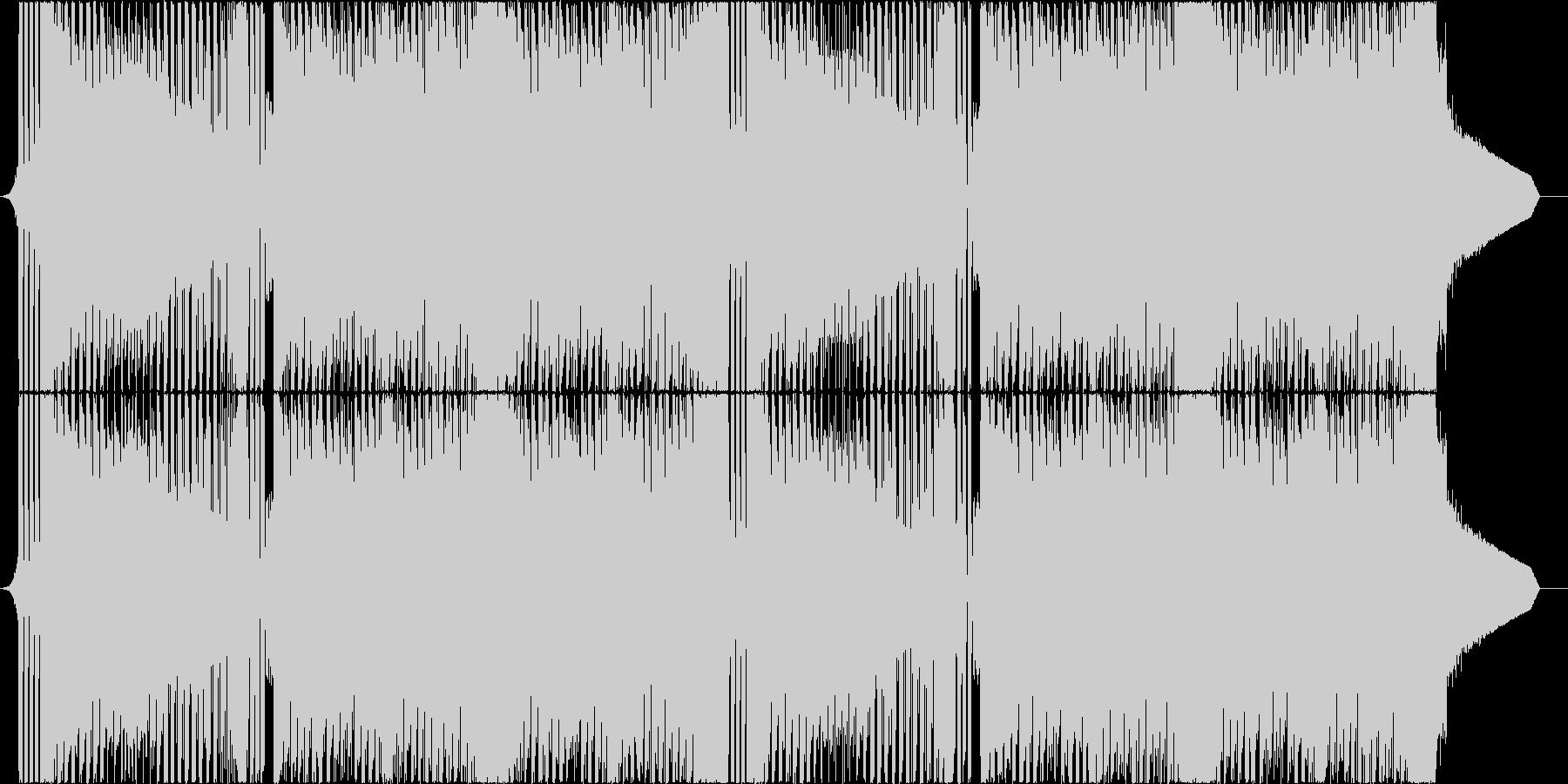 突き抜けるバイオリンの疾走感溢れるBGMの未再生の波形