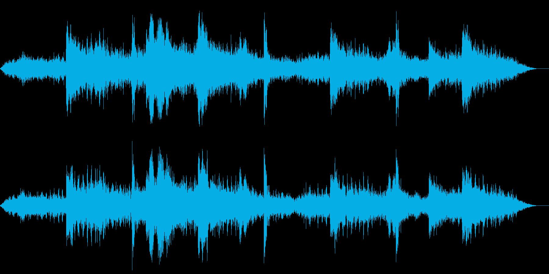 映画寄りの薄気味悪いホラーピアノの再生済みの波形