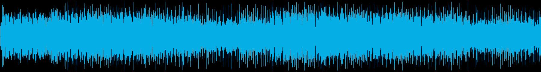 爽やかで明るい昼間のシーン(ループ)の再生済みの波形
