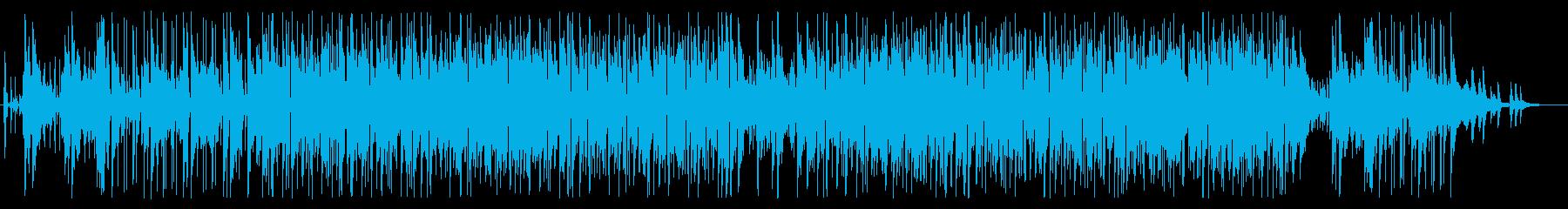 明るく爽やかな軽いBGMの再生済みの波形