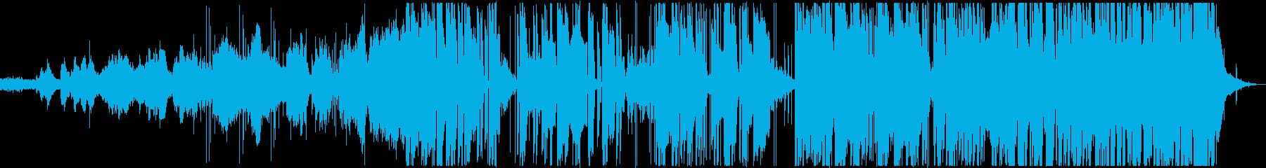 電子でテンションの上がる曲の再生済みの波形