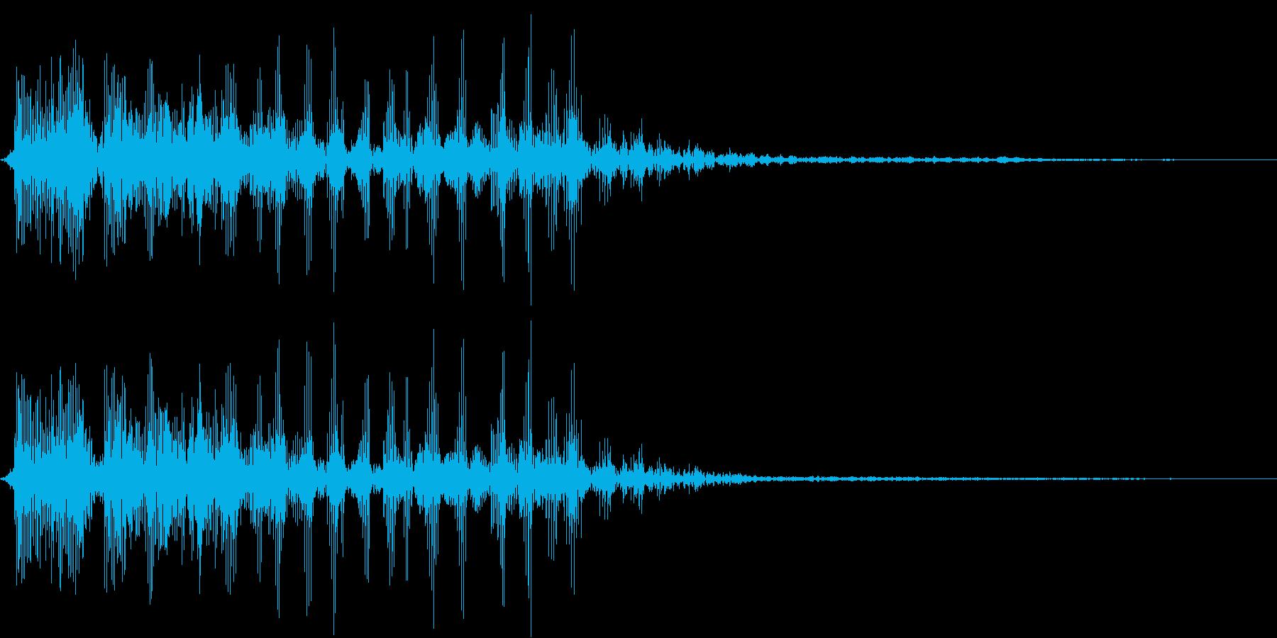 鳥モンスターの叫び(寒冷地に棲む)の再生済みの波形