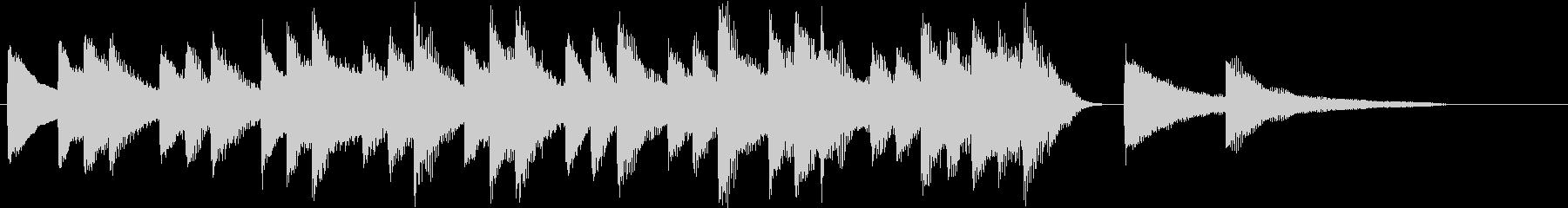 四季より「冬」モチーフのピアノジングルAの未再生の波形
