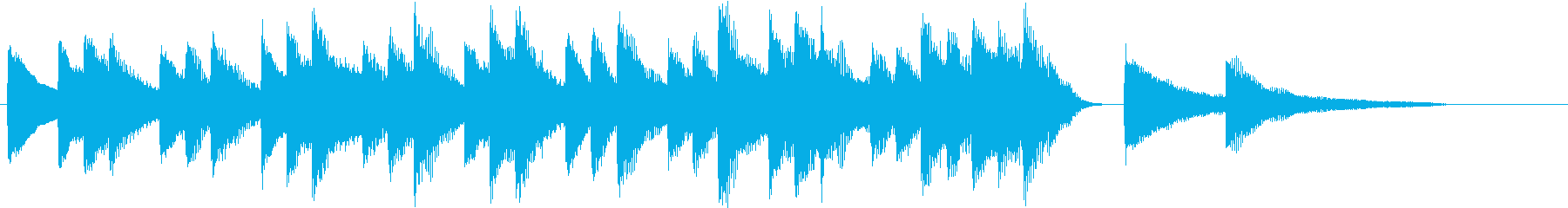四季より「冬」モチーフのピアノジングルAの再生済みの波形