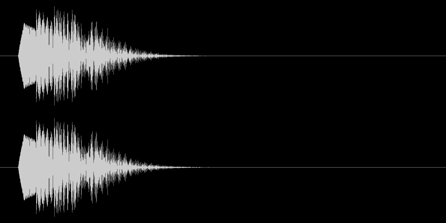 ポップな下降音/低め/残念/キャンセルの未再生の波形