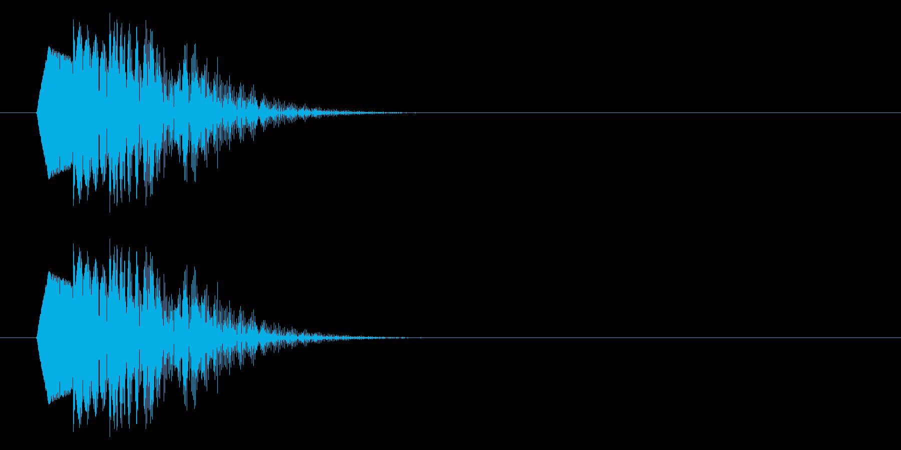 ポップな下降音/低め/残念/キャンセルの再生済みの波形