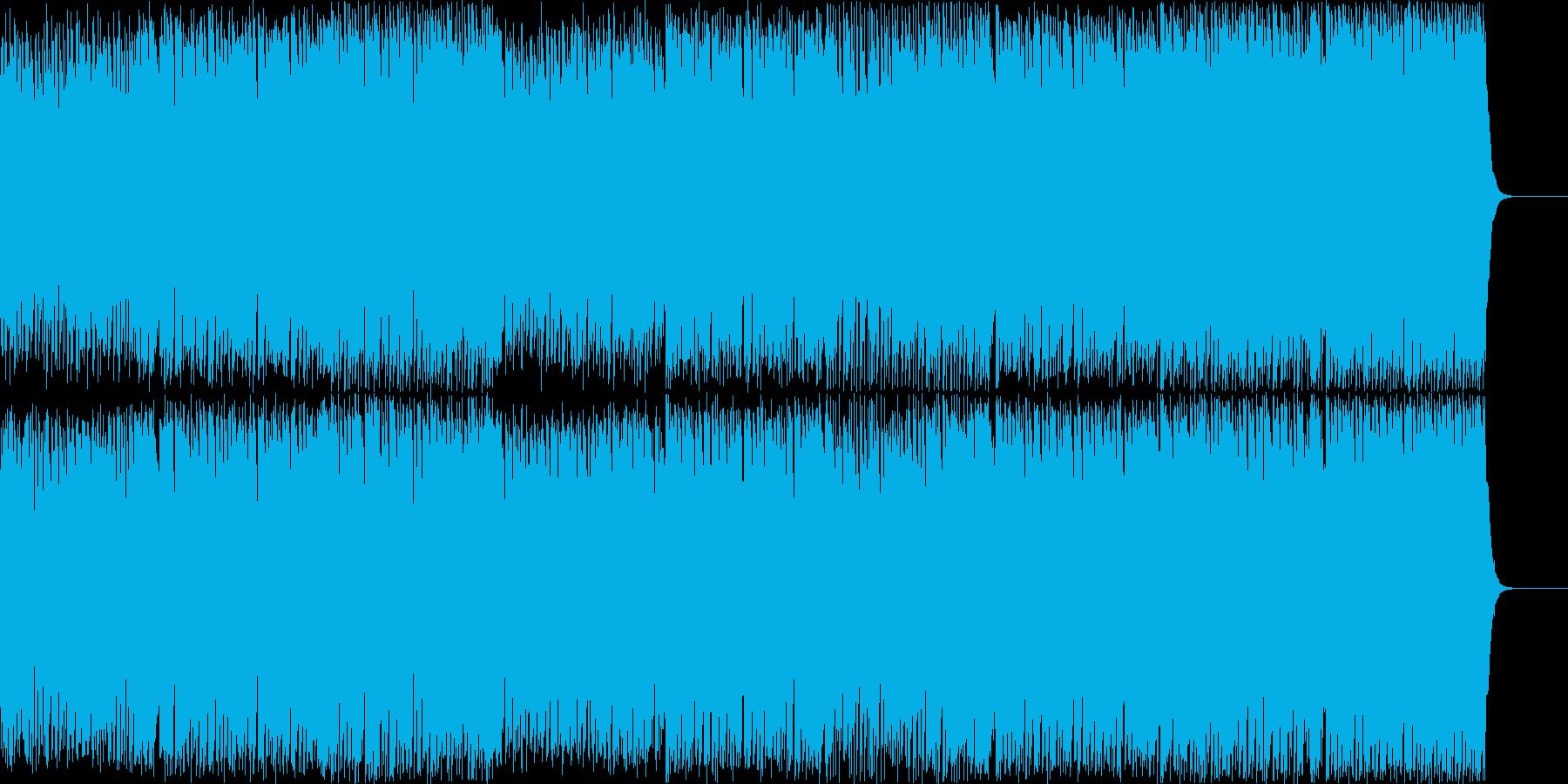ポップでキャッチーなボイスEDMハウスの再生済みの波形
