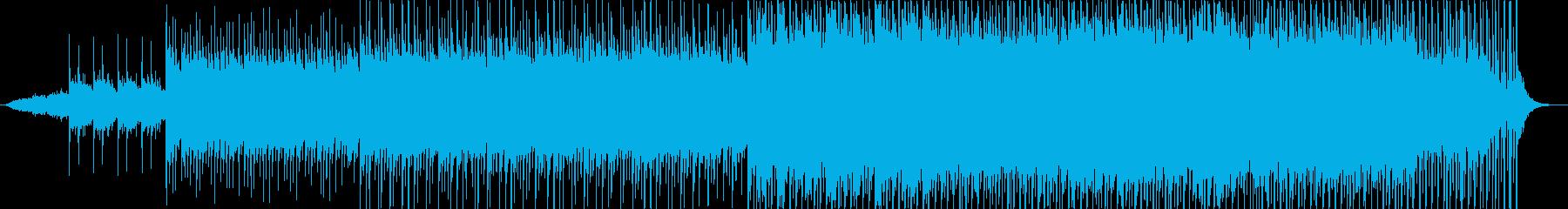 穏やかな朝のイメージのアコギサウンドの再生済みの波形