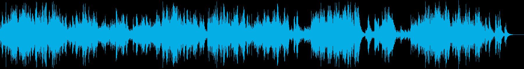 風を感じるようなスティールドラム風の曲の再生済みの波形
