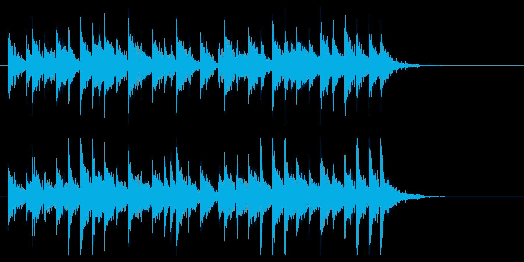 華やかで軽快な和風EDMジングル1の再生済みの波形