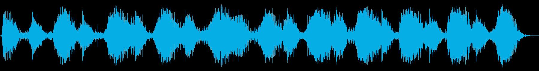 大きなベローズ:ゆっくりと一定のポ...の再生済みの波形