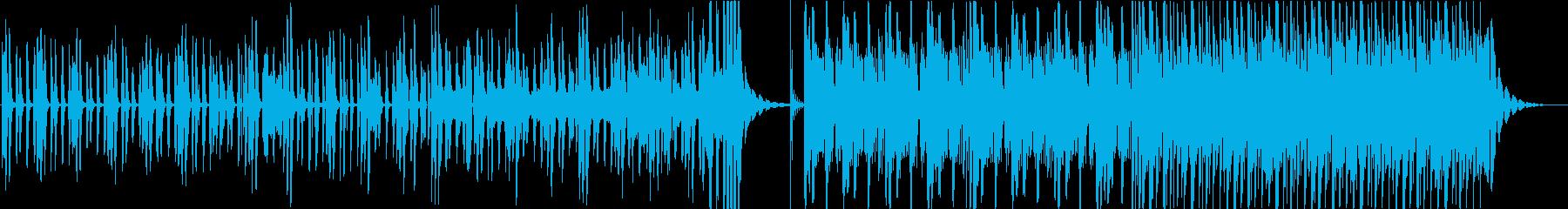 不思議で明るいピアノインストの再生済みの波形