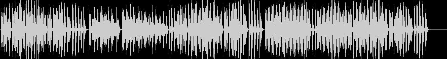 アプリや映像にかわいいオルゴール風ピアノの未再生の波形