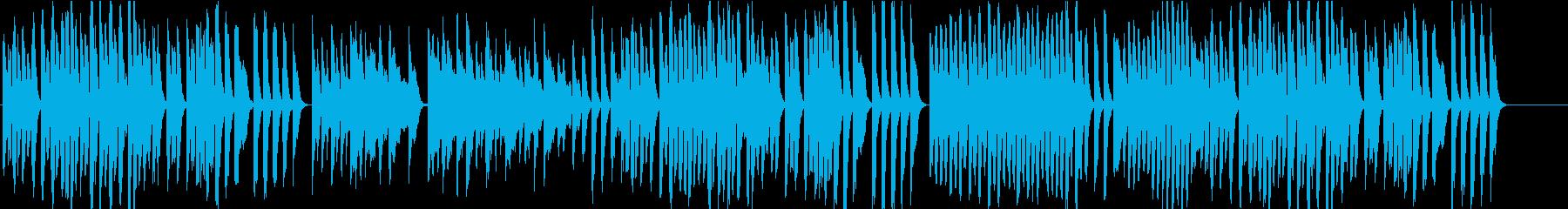 アプリや映像にかわいいオルゴール風ピアノの再生済みの波形