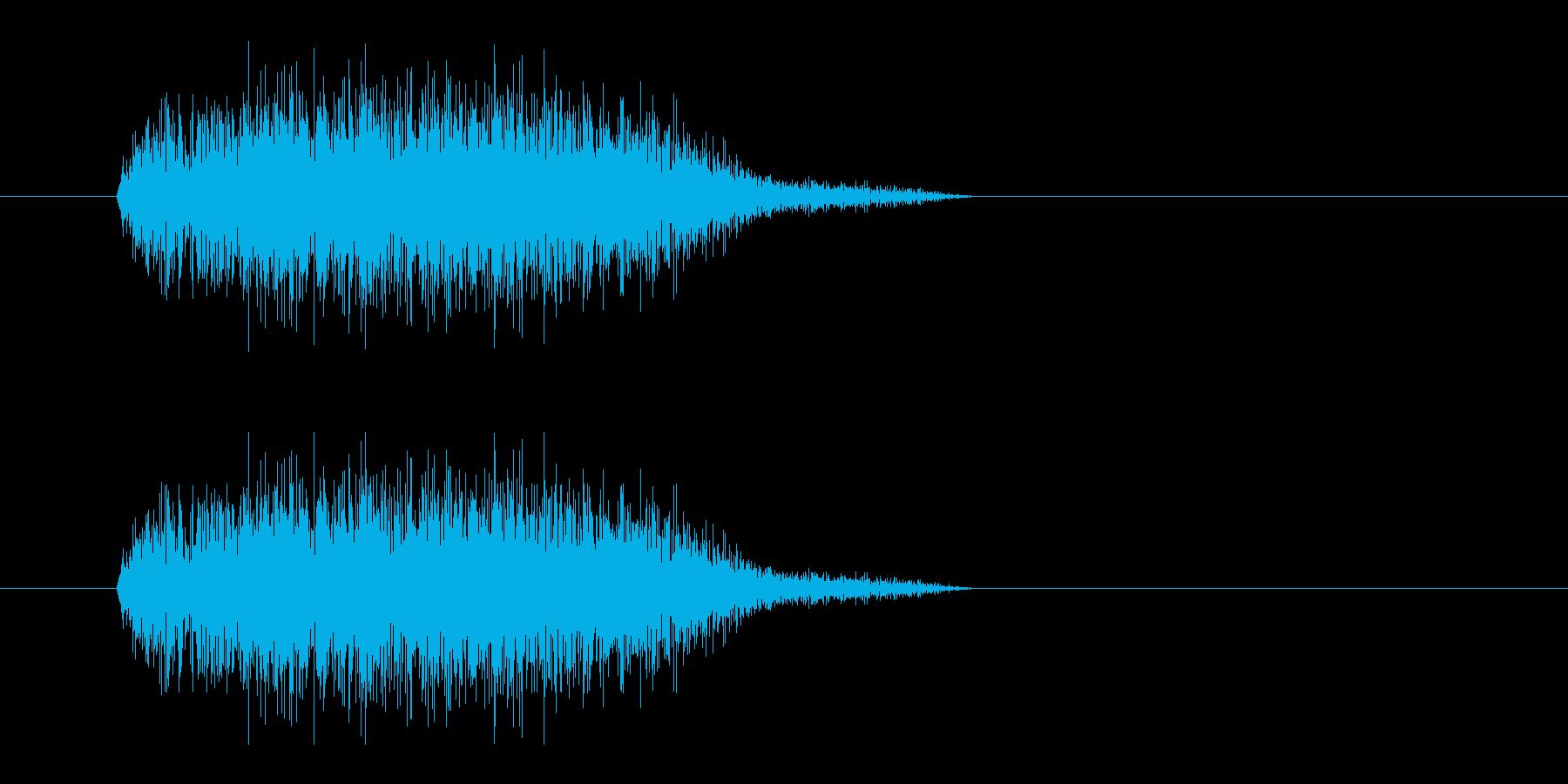 レーザー音-17-3の再生済みの波形