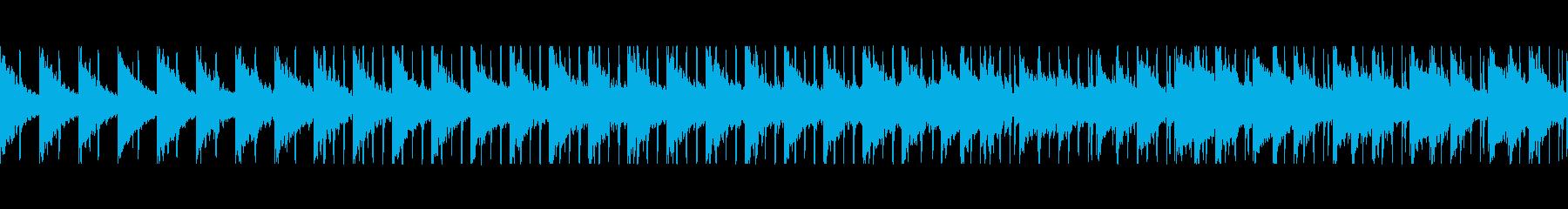 まったり、まろやか。 落ち着いたループ曲の再生済みの波形
