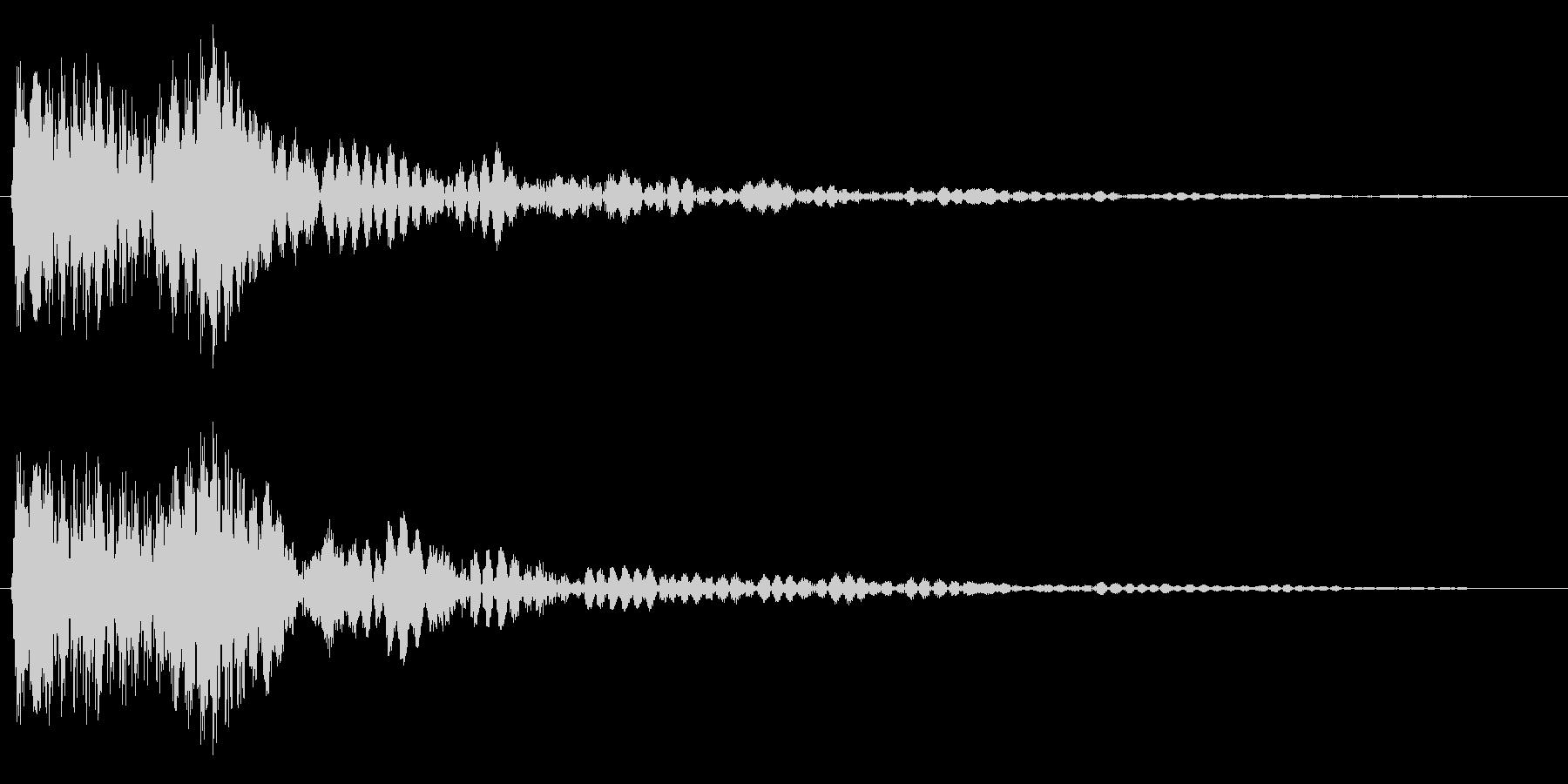 プフォン(浮遊感のあるアクション音)の未再生の波形