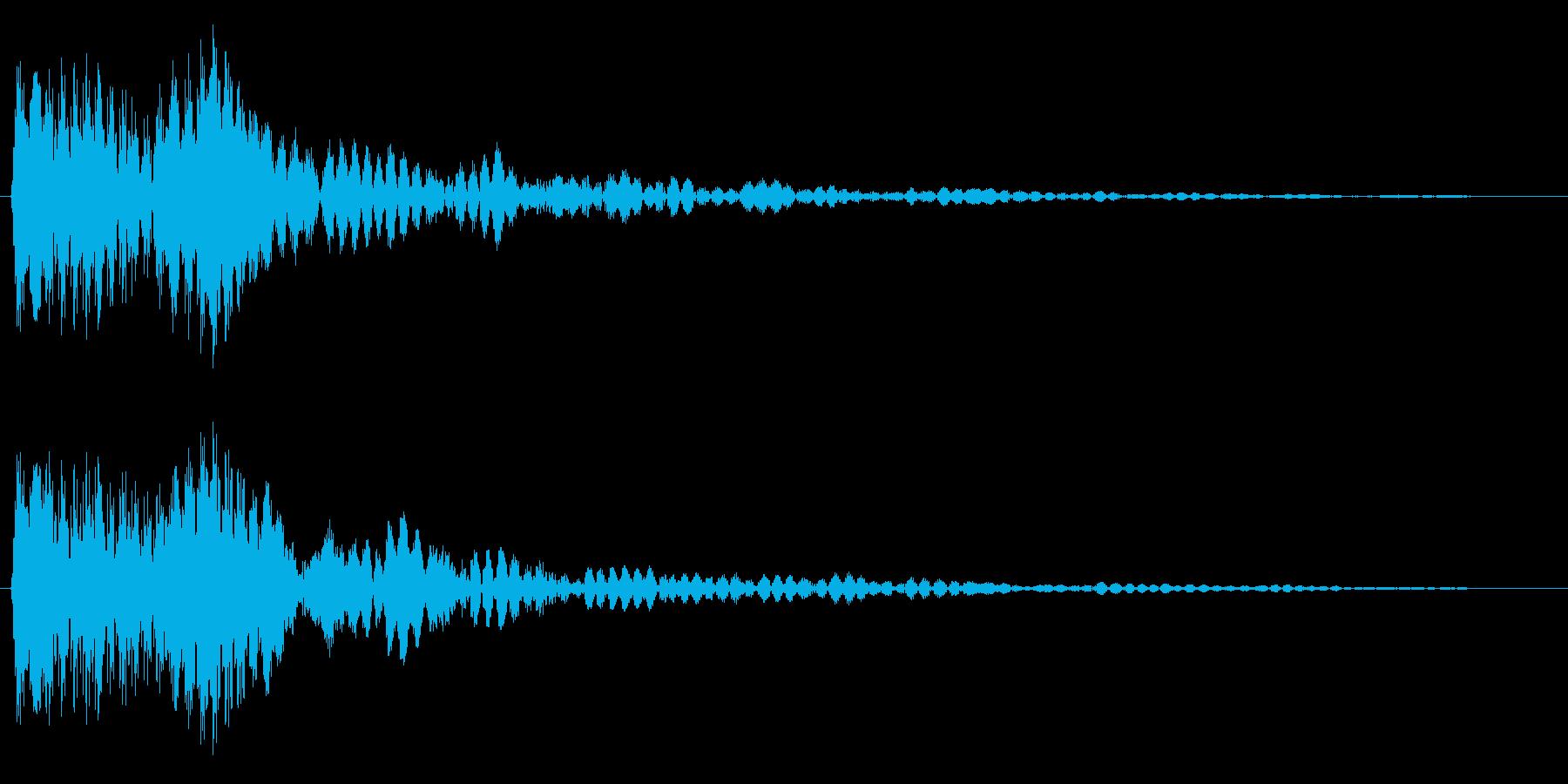 プフォン(浮遊感のあるアクション音)の再生済みの波形