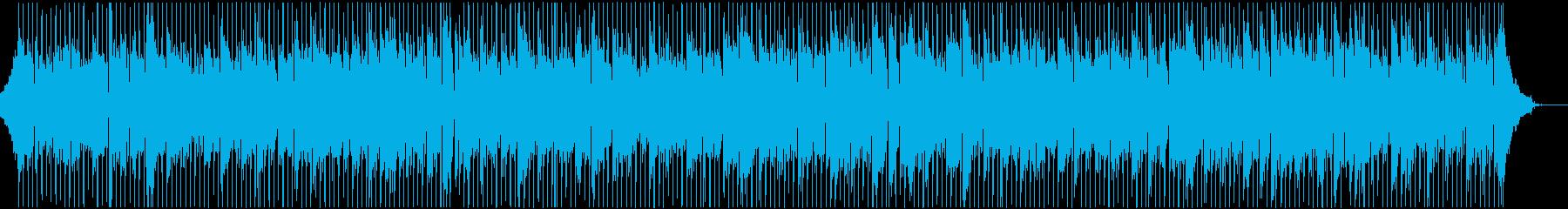 爽やかで明るいアップテンポ楽曲、弦なし版の再生済みの波形