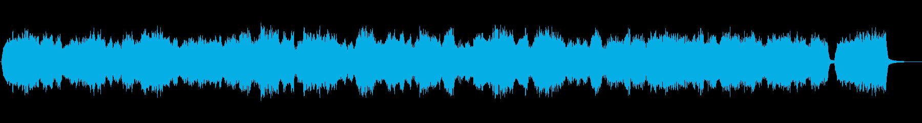 暖かいメロディアスなストリングスの再生済みの波形