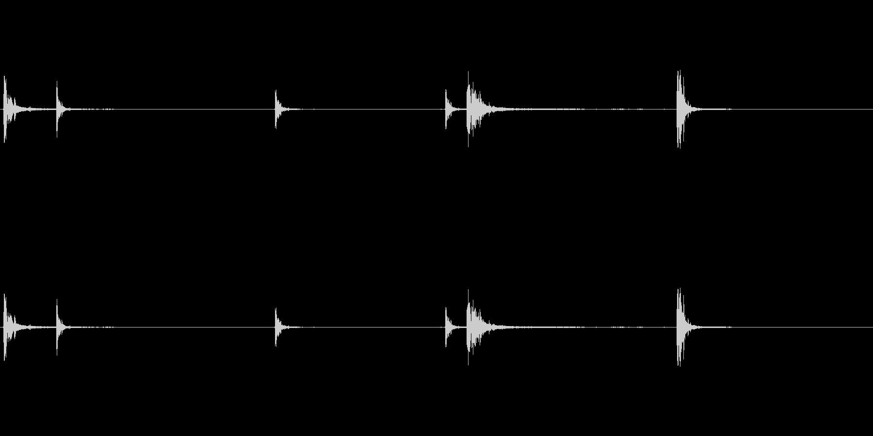 爆発18の未再生の波形