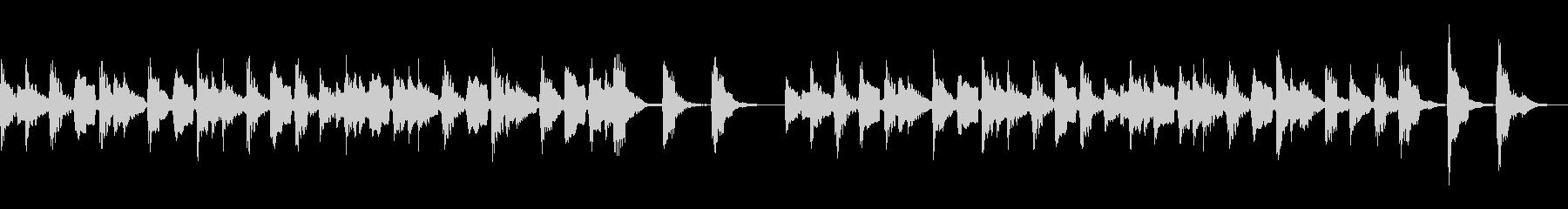 3分クッキングの曲 (アコギ)の未再生の波形