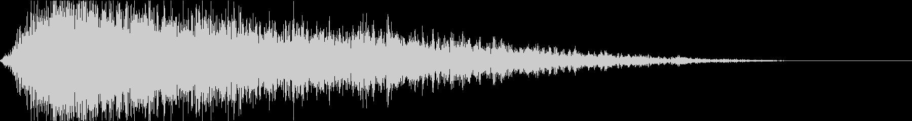 幽霊が現れる時の衝撃音(ホラー)3の未再生の波形