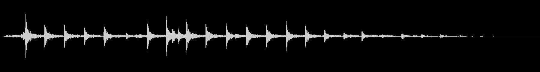 メタルフェンスゲートガラガラの未再生の波形