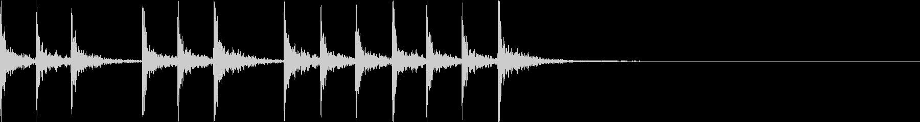 拍子木 三三七拍子 337拍子 和楽器の未再生の波形