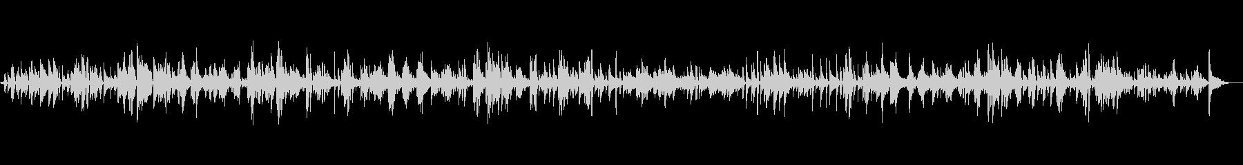 古いレコード風の懐古的日本語ボサノヴァの未再生の波形
