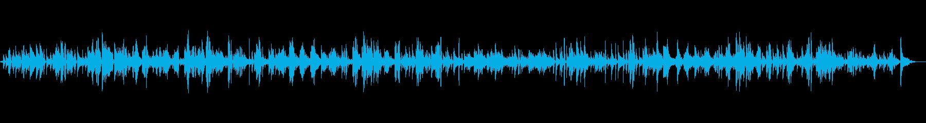 古いレコード風の懐古的日本語ボサノヴァの再生済みの波形
