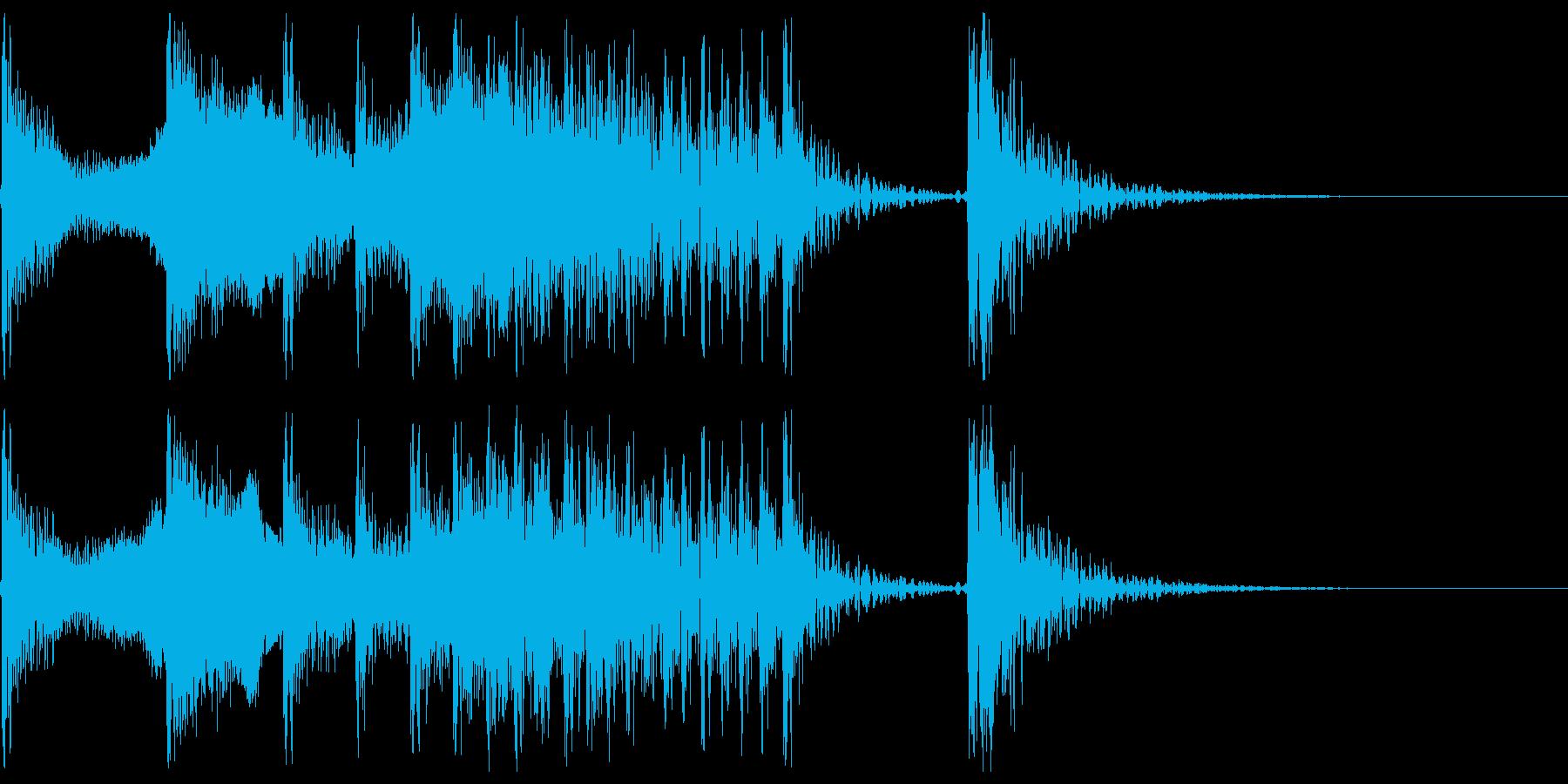 これぞ和風1(尺八、和太鼓)の再生済みの波形