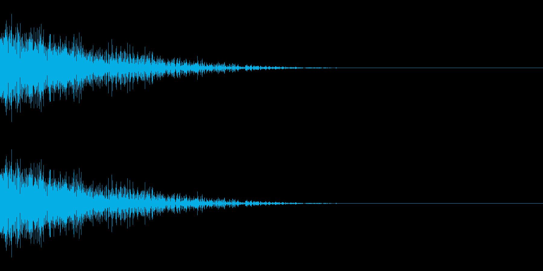 ザッ(ひっかく/小動物/爪)の再生済みの波形