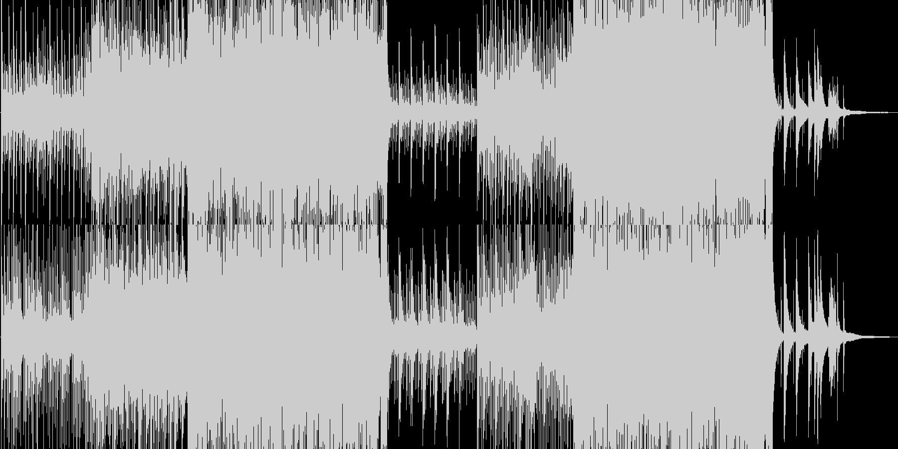 琴、尺八、モダンな和風BGMの未再生の波形
