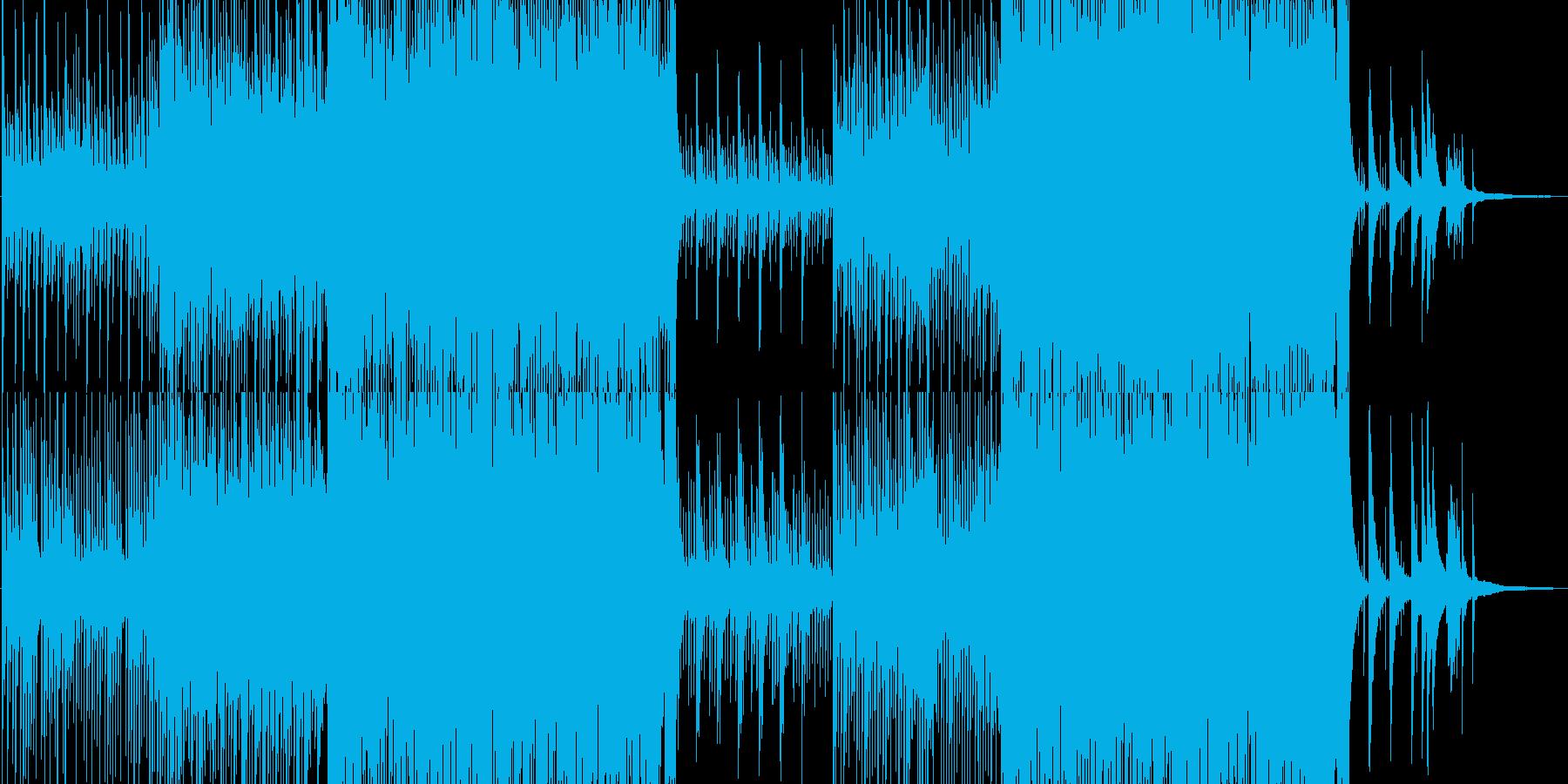 琴、尺八、モダンな和風BGMの再生済みの波形