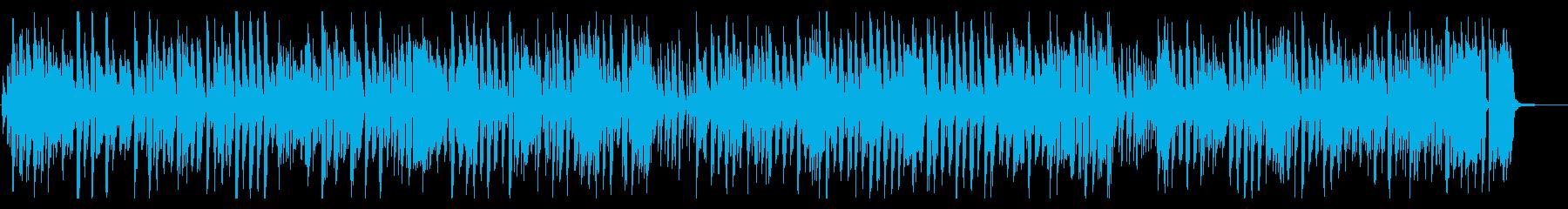 YouTube系おしゃれ楽しいジャズの再生済みの波形