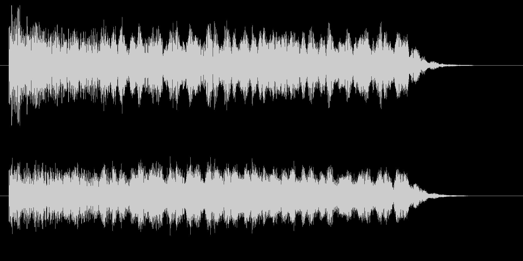 どこか現実っぽくない音の未再生の波形