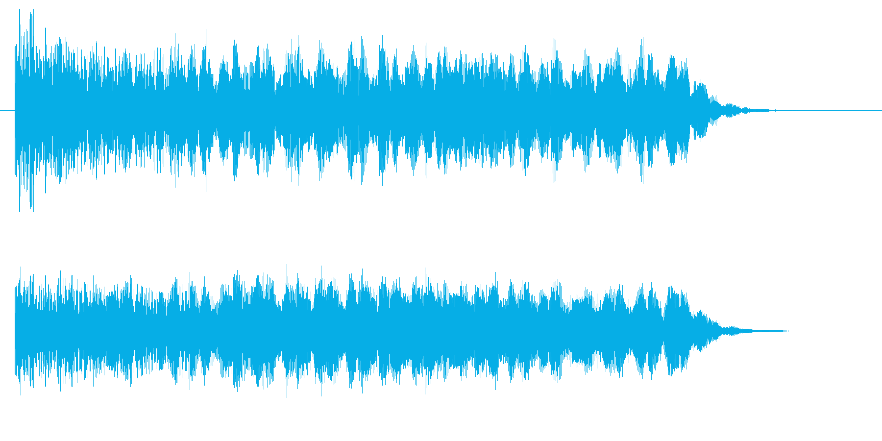 どこか現実っぽくない音の再生済みの波形