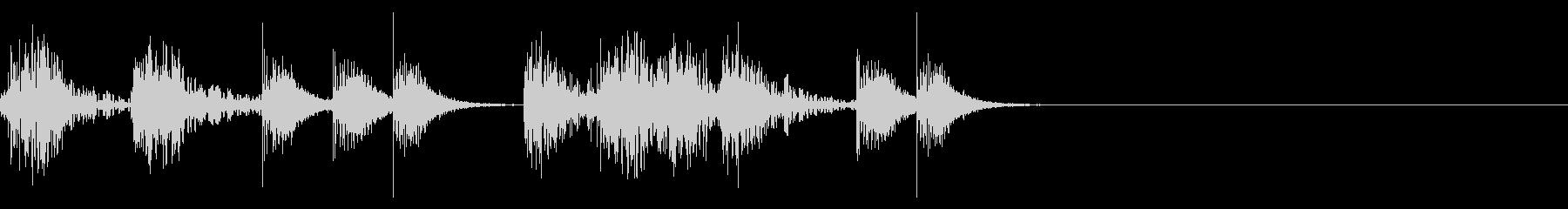 定番リズム2(ストンプ音)印象に残る音の未再生の波形
