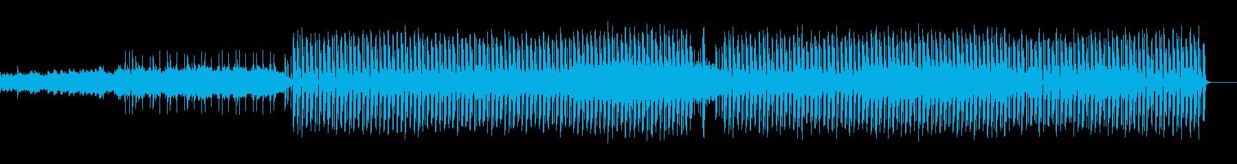 幻想的なピアノとシンセサウンドの再生済みの波形