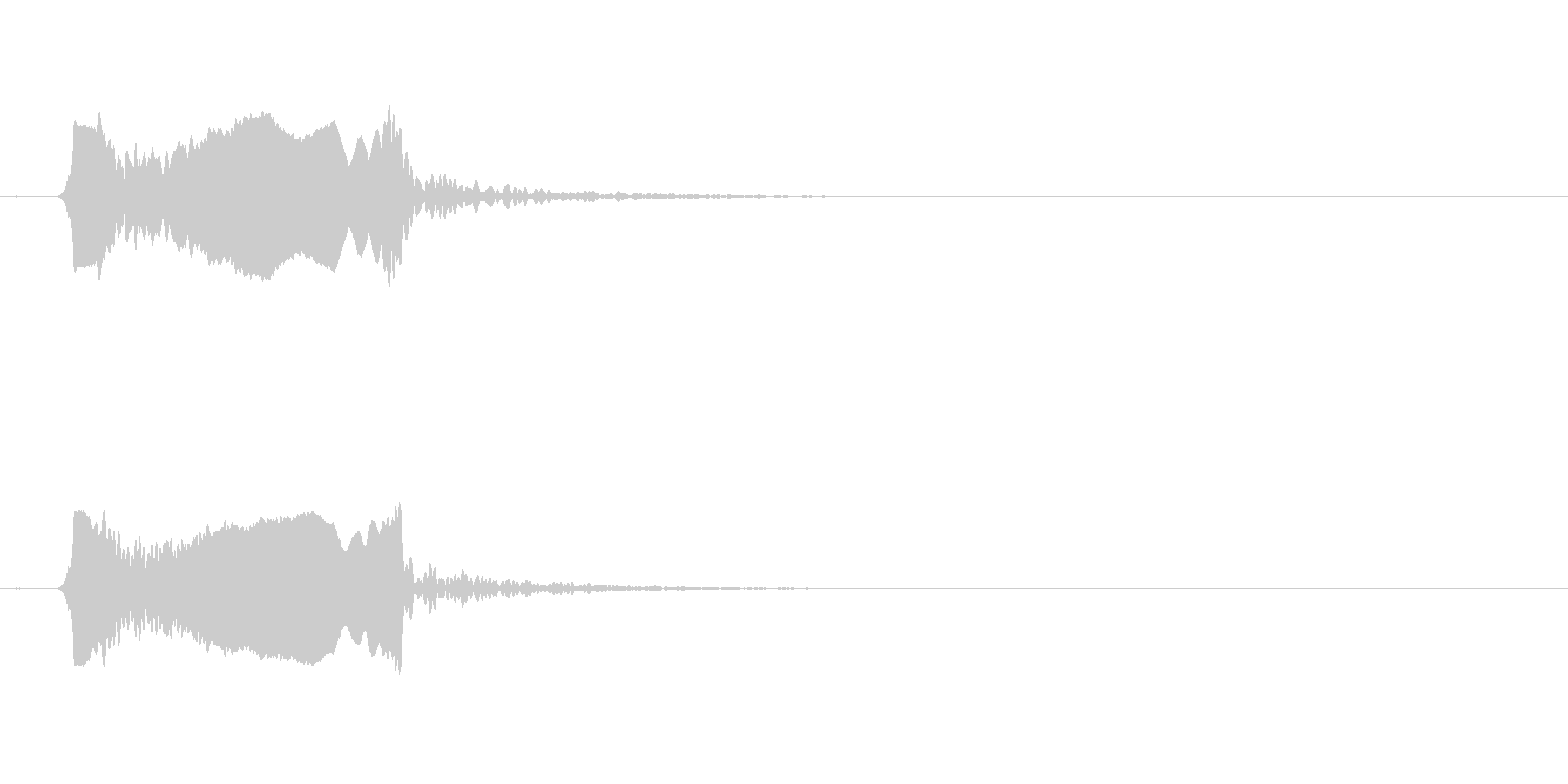 篠笛。和風な音でよくある「ピュイーイッ」の未再生の波形