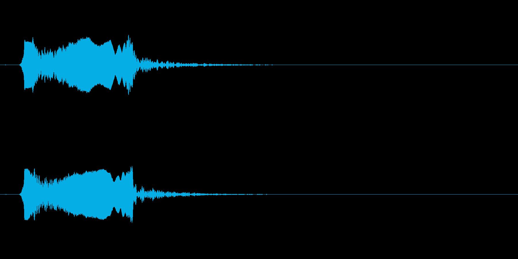 篠笛。和風な音でよくある「ピュイーイッ」の再生済みの波形