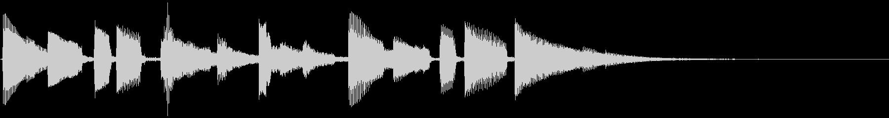 映写機のまわす音とアコギのアルペジオの未再生の波形