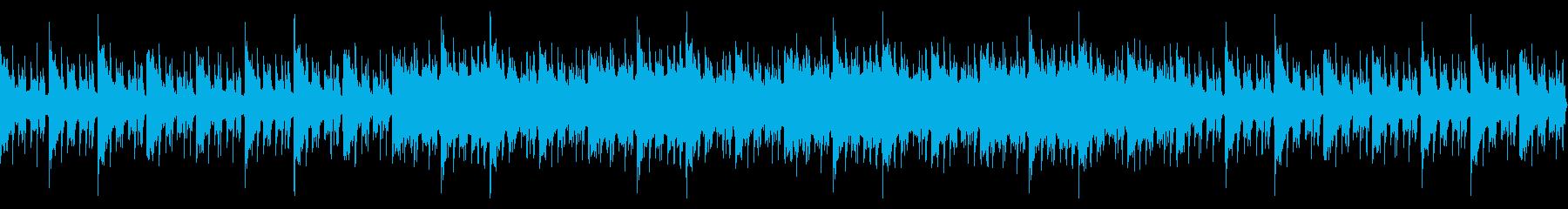 落ち着いた切なく懐かしいBGMの再生済みの波形