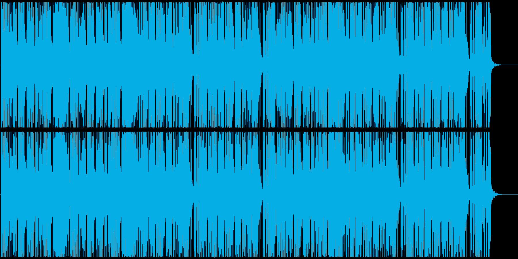 速めブラームス名曲、コミカル映像、ゲームの再生済みの波形