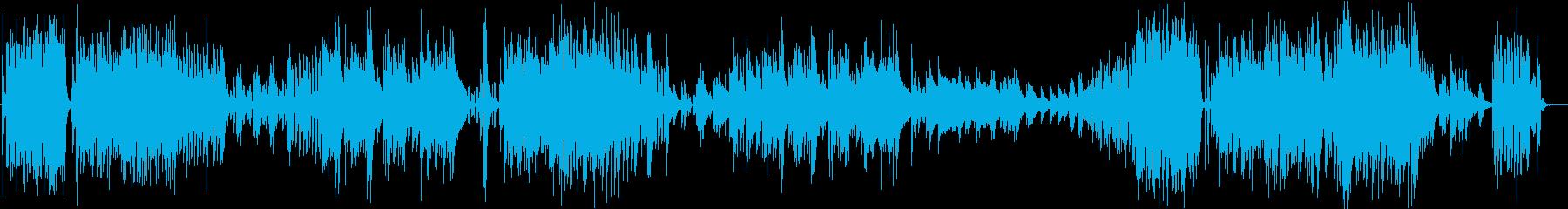 オシャレでかっこいいピアノJazz曲の再生済みの波形